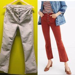 Madewell Tall Cali Demi-Boot Jeans Corduroy Grey